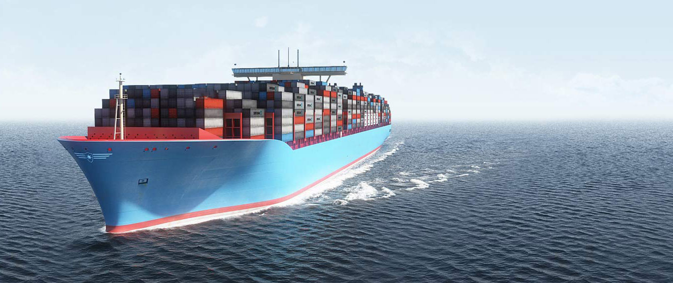 Mina Shipping blue sea freight with containers